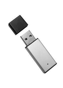 Mini Pen Drive 32GB de Metal Prata com Tampa Preta