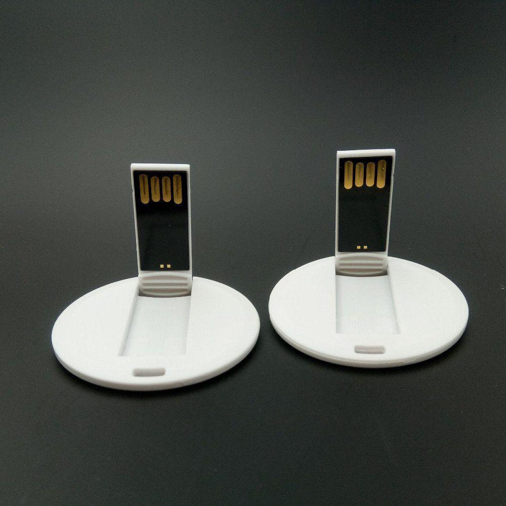 Pen Card 32GB Plástico Redondo Branco Personalizado