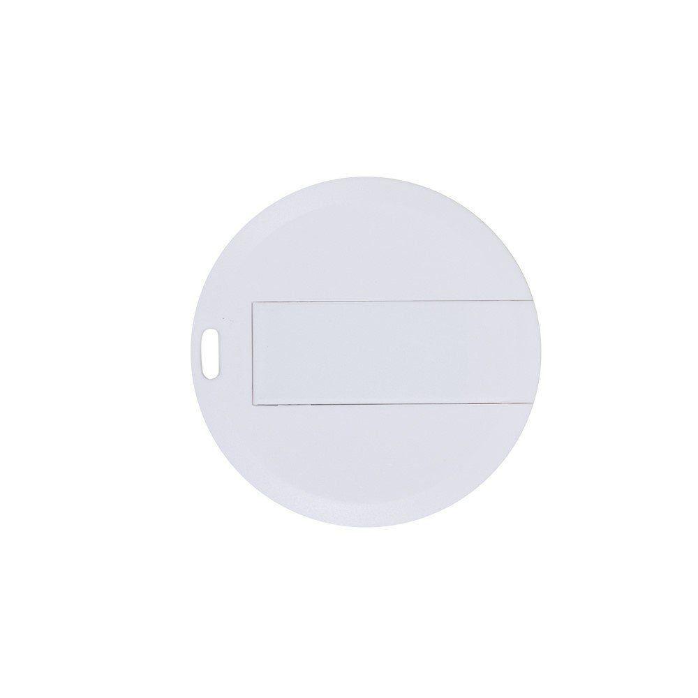 Pen Card 4GB Plástico Redondo Branco Personalizado