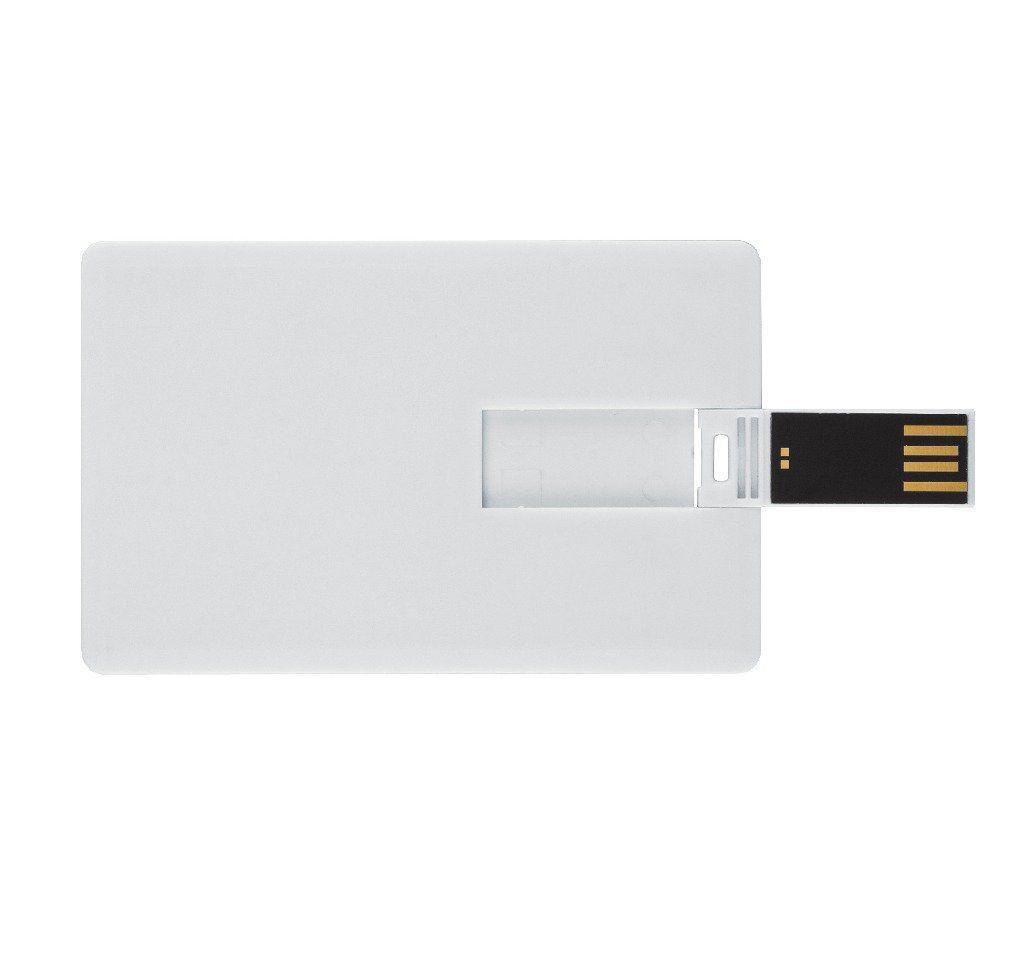 Pen Card 4GB Plástico Retangular Grande Branco Personalizado