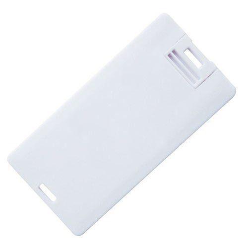 Pen Card 4GB Plástico Retangular Pequeno Branco Personalizado
