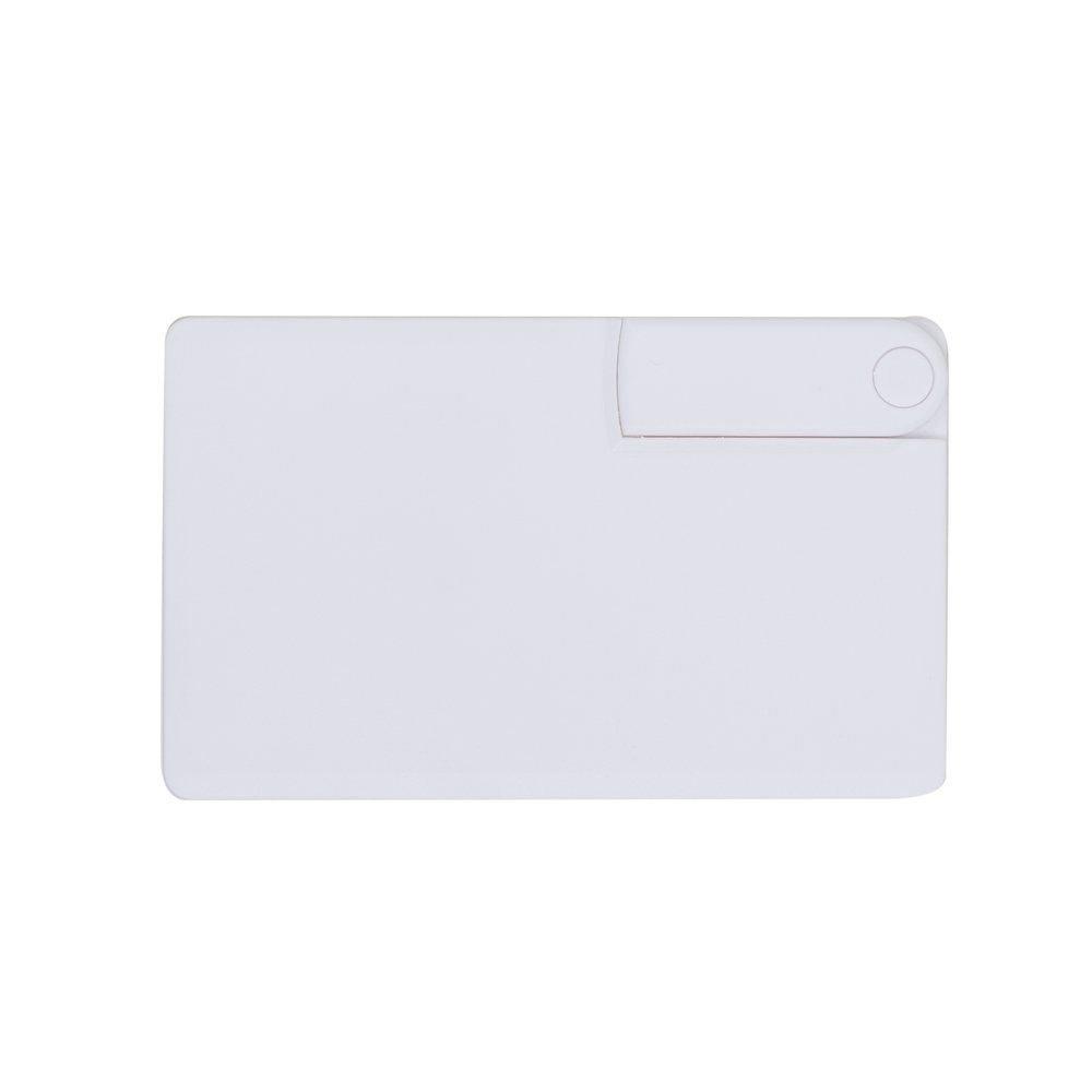 Pen Card 8GB Plástico Branco Retangular Canivete Personalizado