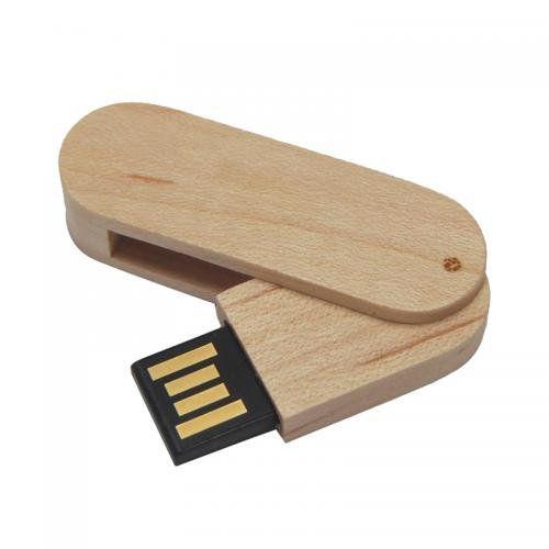 Pen Drive 16GB Canivete Cob de Madeira Maple Personalizado