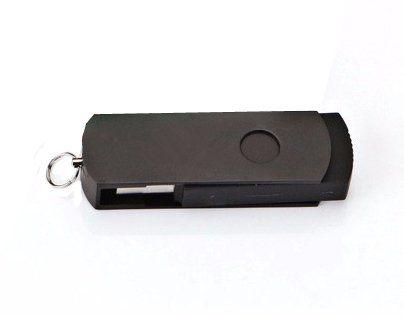 Pen Drive 16GB Giratório Alumínio Todo Preto Personalizado
