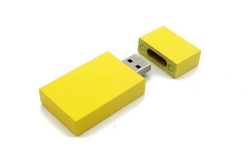 Pen Drive 16GB Retangular Largo Candy Color com Tampa Personalizado