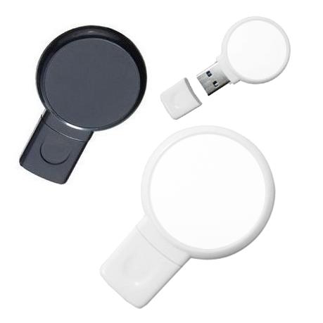Pen Drive 8GB Plástico Balão Preto Personalizado