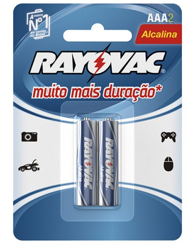 Pilha LR03 Alcalina AAA 1.5v Rayovac (c/ 2 unidades)