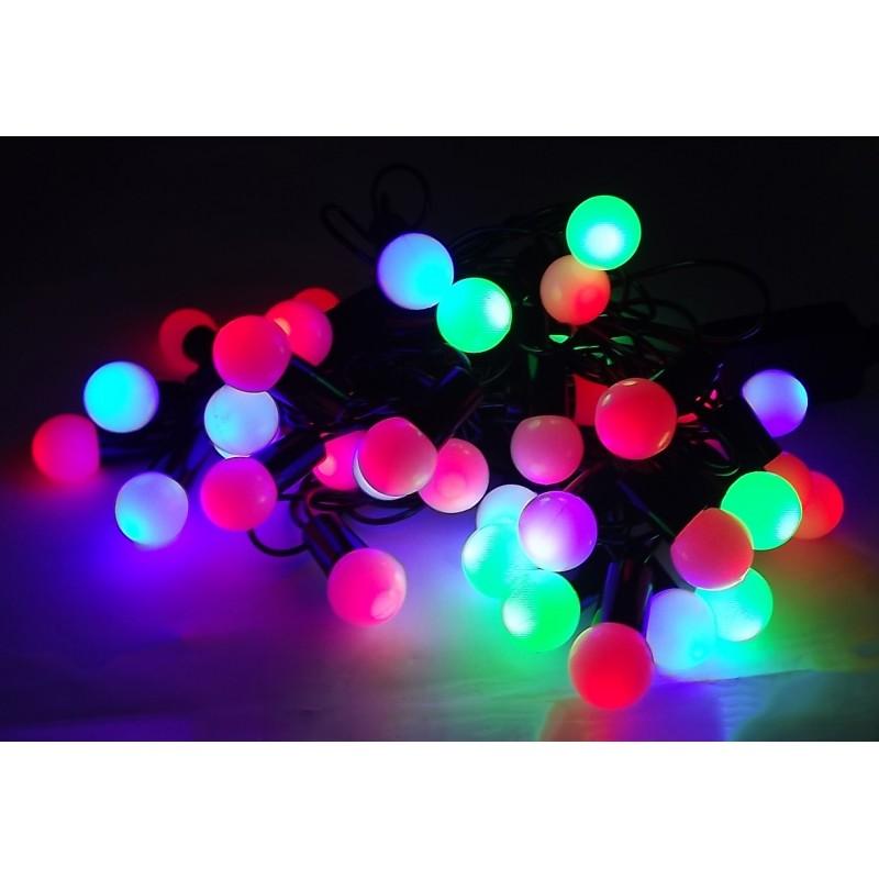 Pisca-Pisca LED de Natal com Bolinhas LED Coloridas