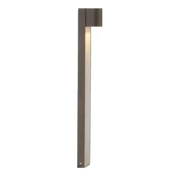 Poste Balizador LED Raiado 2W com 1 Foco de Luz