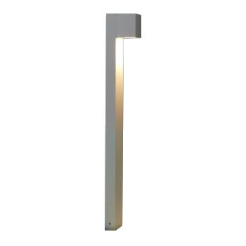 Poste Balizador Retangular 2W LED com 1 Foco de Luz