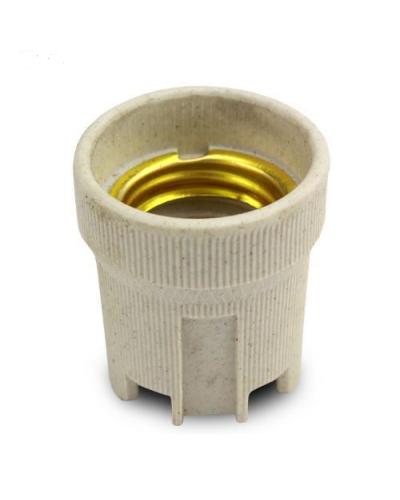 Soquete E27 para Lâmpada feito de Cerâmica