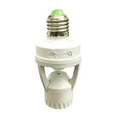 Soquete E27 Com Sensor de Presença e Fotocélula