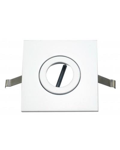 Spot De Embutir Quadrado Para Lâmpada Mini-Dicroica - Branco Brilhoso