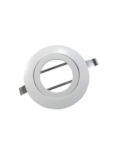 Spot De Embutir Quadrado Para Lâmpada PAR20 - Branco Brilhoso