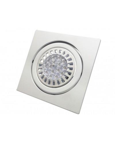 Spot De Embutir Quadrado Para Lâmpada PAR30 - Branco Brilhoso
