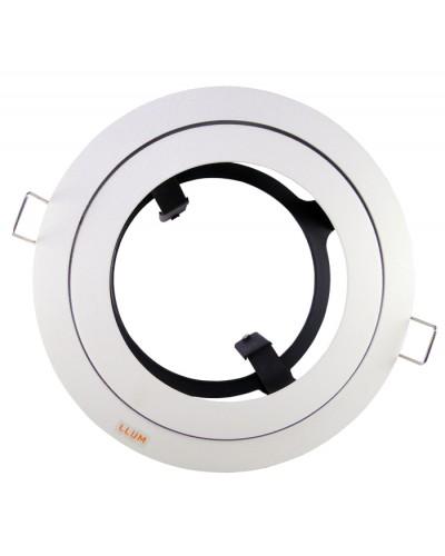 Spot De Embutir Redondo Orbital Lâmpada PAR30 Branco Fosco Bronzearte