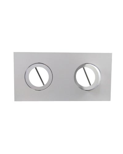 Spot Duplo Embutir Direcionável Para Lâmpada AR70 - Branco Brilhoso