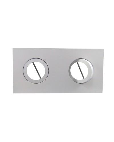Spot Duplo Embutir Direcionável Para Lâmpada PAR20 - Branco Brilhoso