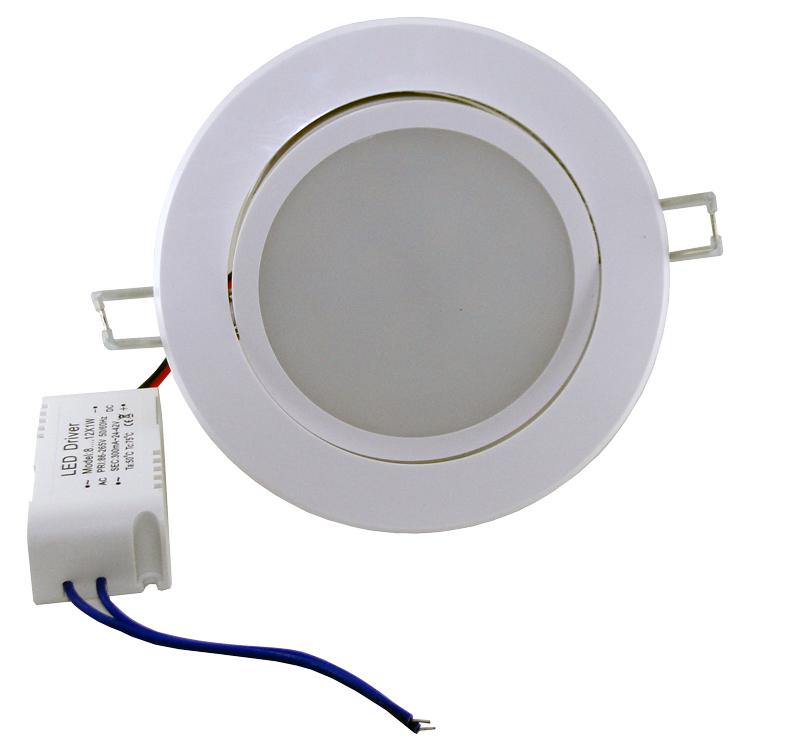 Spot LED 3W Completo Redondo Direcionável Leitoso