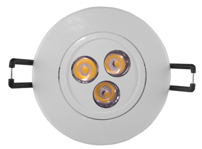 Spot LED 3W Completo Redondo Direcionável