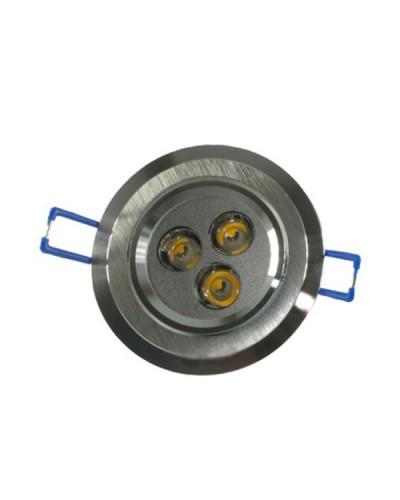 Spot LED 4W Completo Redondo Direcionável Em Alumínio Bivolt