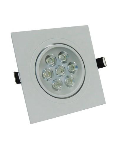 Spot LED 7W Completo Quadrado Direcionável