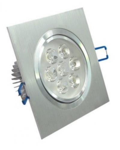 Spot LED 7W Completo Quadrado Direcionável Em Alumínio Bivolt