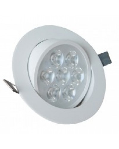 Spot de LED Redondo de Embutir Direcionável Branco 7W c/ Driver Bivolt