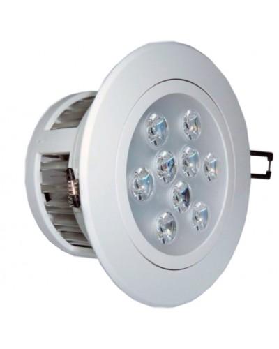 Spot LED 9 Watts Completo Redondo Direcionável