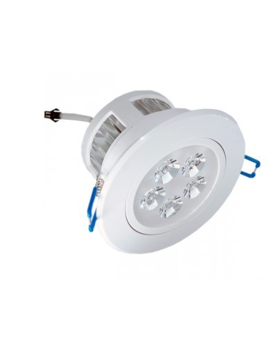 Spot LED de Embutir 5W Completo Redondo Direcionável