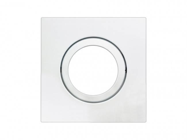 Spot para Lâmpada AR70 Quadrado Direcionável de Embutir Branco
