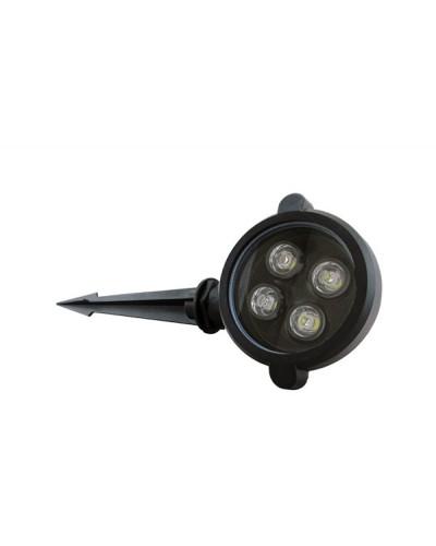 Espeto para Jardim LED 4W Com Spot Direcionável de Uso Externo