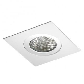 Spot Quadrado Direcionável Embutir Para Lâmpada PAR20 Branco Brilhoso