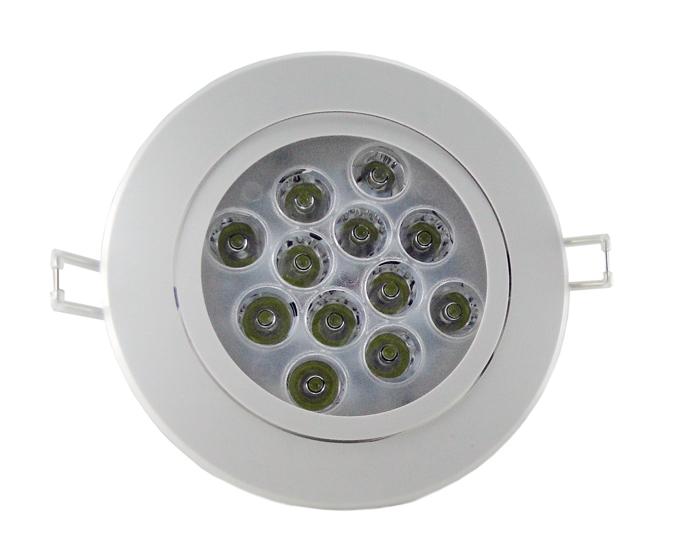 Spot LED 12W com driver/fonte Redondo Direcionável Bivolt