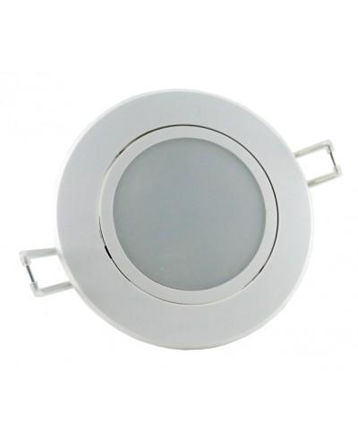 Spot LED 12W Redondo Direcionável Leitoso c/ Driver/Fonte Bivolt
