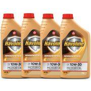 4 Oleos 10w30 Api Sn Semi Sintetico Lt Corola Hilux Civic Palio Havoline