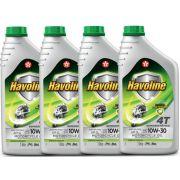 4 Oleos 4t 10w30 Semi Sintetico Api Sl Litro Honda Havoline