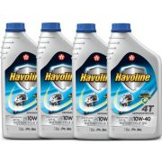 4 Oleos 4t 10w40 Semi Sintetico Api Sl Litro B2w Suzuki Dafra Havoline
