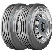 Combo 2 Pneus 275/80r22.5 149/146l R268 Liso Bridgestone
