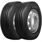 Combo 2 Pneus 275/80r22.5 149/146l R269 Bridgestone