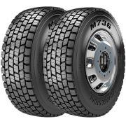 Combo 2 Pneus 295/80R22.5 152/148m M736 Tração Bridgestone