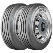 Combo 2 Pneus 295/80r22.5 152/148m R268 Tubeless Liso Bridgestone