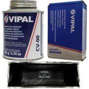 Kit Cimento Para Reparo Vulcanizante Cola Branca Cv-00 + Caixa Manchão Rac44 Vipal