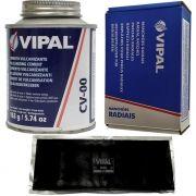 Kit Cimento Para Reparo Vulcanizante Cola Branca Cv-00 + Caixa Manchão Rac46 Vipal