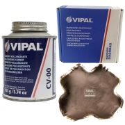 Kit Cimento Para Reparo Vulcanizante Cola Branca Cv-00 + Caixa Manchão Vd09 Vipal