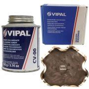 Kit Cimento Para Reparo Vulcanizante Cola Branca Cv-00 + Caixa Manchão Vd10 Vipal