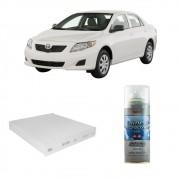 Kit Filtro Ar Condicionado + Higienizador Corolla hilux