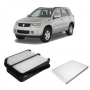 Kit Filtro Ar Motor + Ar Condicionado Grand Vitara 2.0 16v 2008 em diante