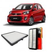 Kit Filtro Ar Motor + Filtro Ar Condicionado Kia Picanto