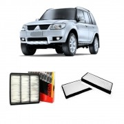 Kit Filtro Ar Motor + Filtro Ar Condicionado Pajero Tr4 todas